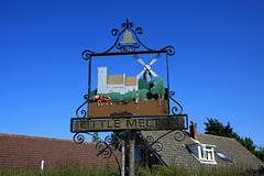 Village sign Little Melton Norfolk