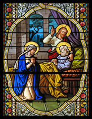 Jesus and Mary at the deathbed of St Joseph