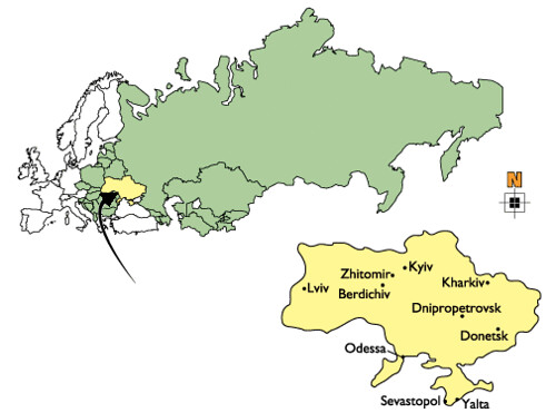 Mappa dell'Ucraina