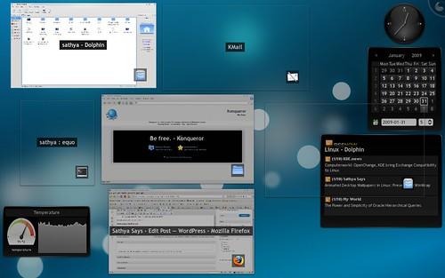 KDE 4.2 show all windows