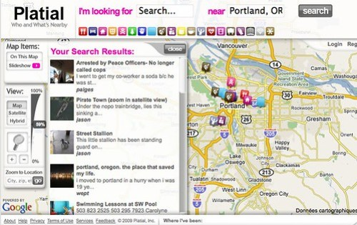 Platial.com - Who and What's Nearby by you.