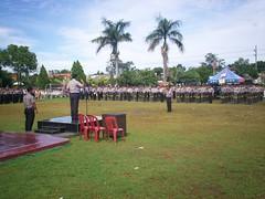 Apel Lat Pra Ops  Mantap Brata 2009  dipimpin langsung oleh Kapolres