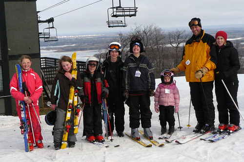 The Whole Ski Group At Spirit Mountain