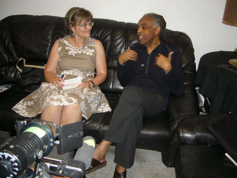 Gilberto Gil im Gespräch mit Petra Sorge dos Santos
