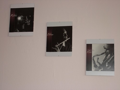 Rollins, Coltrane and Kirk on the wall