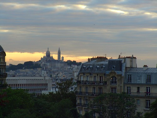 A lovely view of Sacre Coeur and the evening sky