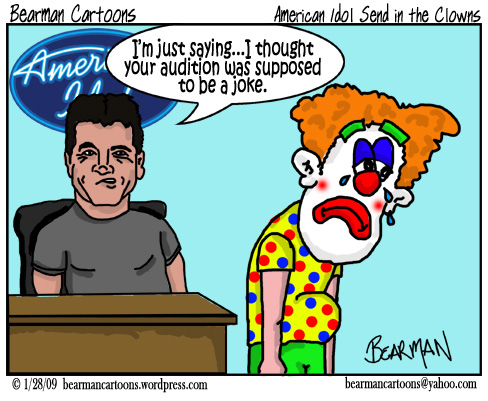 1 29 09  Bearman Cartoon American Idol
