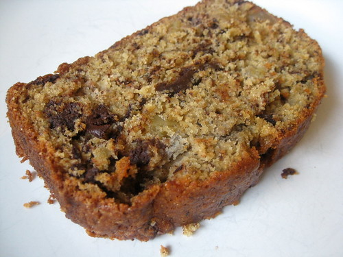 Banana Bread with Chocolate and Ginger