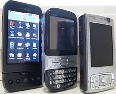 Größenvergleich: Google Phone / Palm Centro / Nokia N95