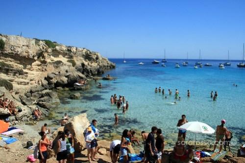 Cala Azzurra at Favignana Island, Sicily, Italy