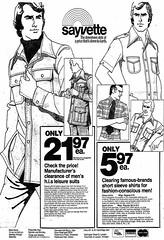 Vintage Ad #859: Leisure Suit Sale at Sayvette