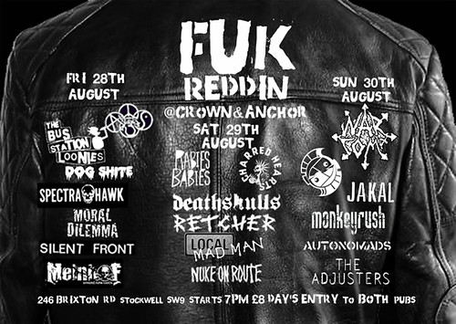 Fuk Reddin 2009 crown and anchor flyer