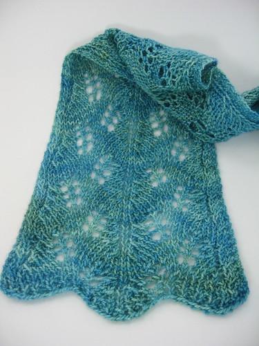 Aqua over Limeade scarf