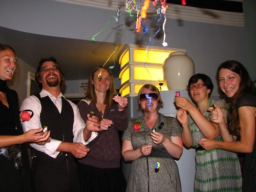 the party poppers were a favorite.