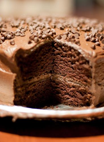 Black Magic chocolate cake...