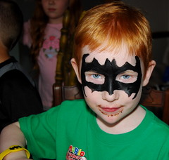 I turned Jacob into Batman at his 6th birthday party.