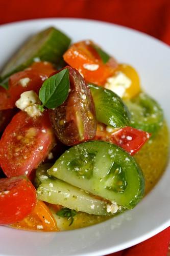 Tomato salad with basil vinaigrette 2