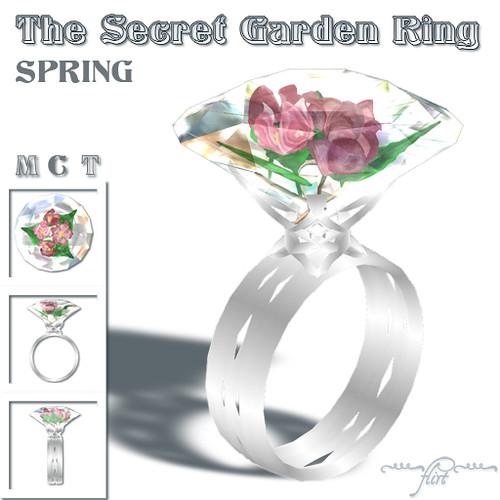 ~flirt~ Secret Garden Ring: SPRING