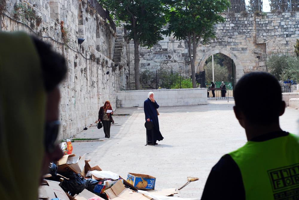 prima imagine după ce am intrat în vechiul Ierusalim, pe Poarta Leilor