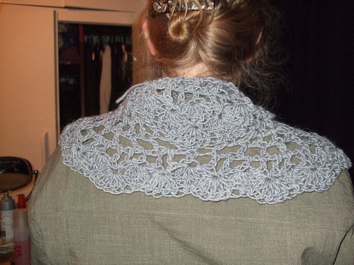 collar sized grey shawl