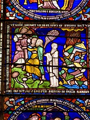 Lot's Wife - medieval stained glass detail, Ca...