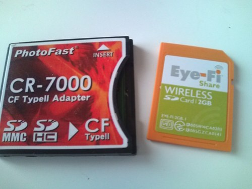 Eye-FiとCFアダプター