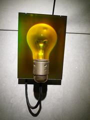 A hologram of a light bulb