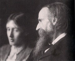 Leslie Stephen and his daughter Virginia Woolf...