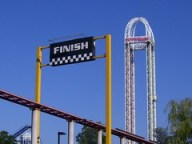 Cedar Point - Dragster Finish and Power Tower