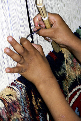Carpet weaving by Barb Mayer, on Flickr