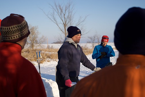 Run coordinator Jeff Riddle explains the rules