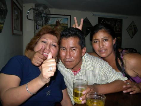 Peter, his wife and friend