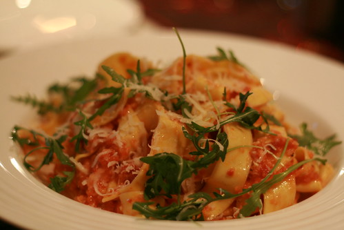 Smoked trout in parpadelle