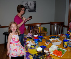 Lizzie at Jacob's 6th birthday party.