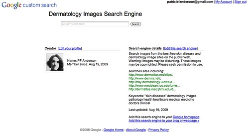 Dermatology Images Custom Search