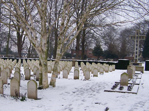 Snow at Newark-On-Trent Cemetery 5-02-'09 by you.