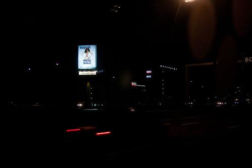 Billboard alongside highway