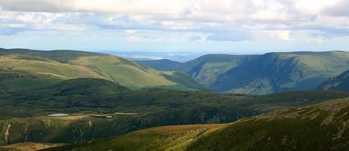 View from Lochnagar, Cairgorn Mountains