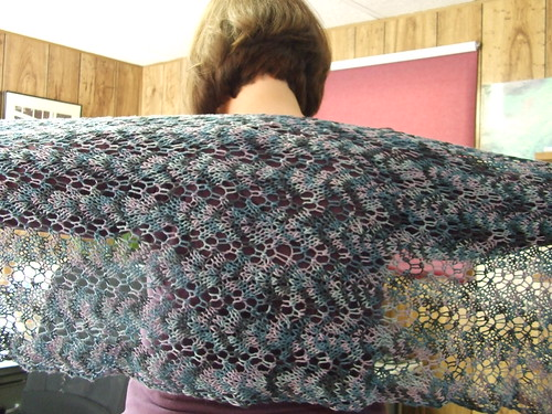 Siren Shawl Finished