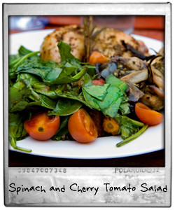 Spinach and Cherry Tomato Salad