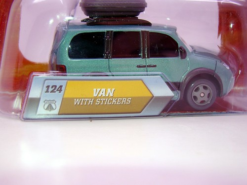 disney cars lenticular chase van with stickers (2)