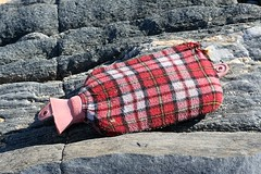 hot water bottle on Borve beach
