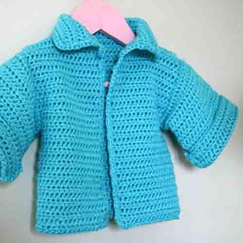 Aqua Crochet Cardigan