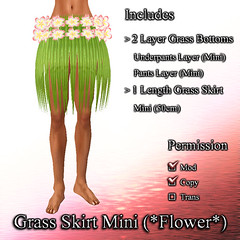 Grass Skirt Mini (*Flower*)