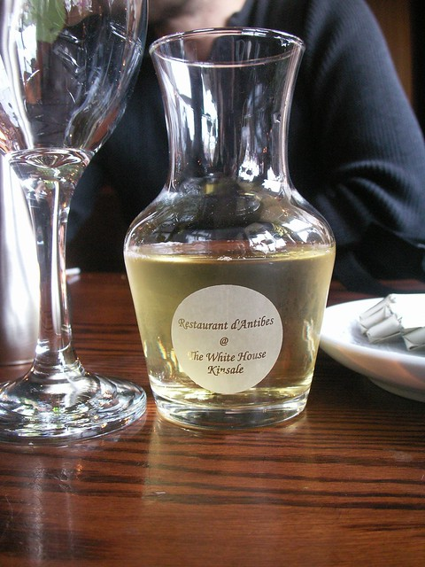 White wine, in White House, Kinsale, Ireland... a place that white people like