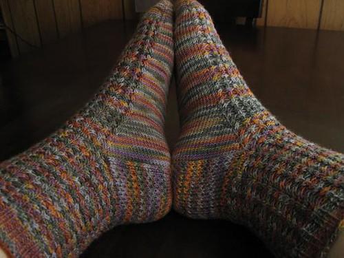 Impressionist socks in CTH African Grey