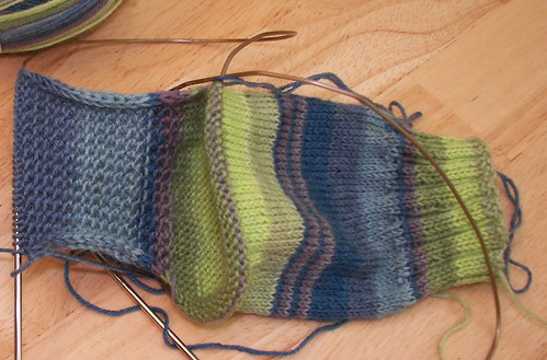 Inside heel flap done, still feeling the love.