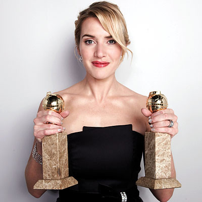 kate winslet golden globe double wins