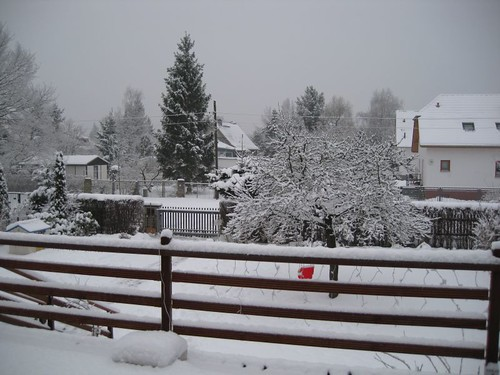 frnt house snow