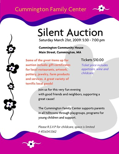Cummington Family Center Silent Auction - March 21st, 2009